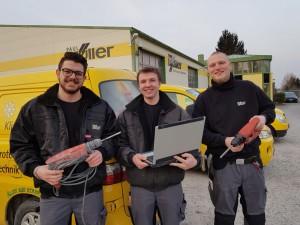 3 Jungmonteure Polik+Bauer+Tomaschewski